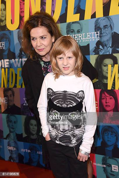 Hannelore Elsner and Ewi Rodriguez attend the Berlin premiere of the film 'Die Welt der Wunderlichs' at Kant Kino on October 12 2016 in Berlin Germany