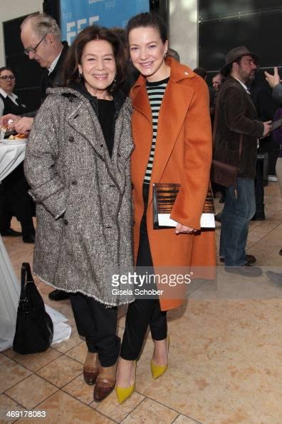 Hannelore Elsner and Hannah Herzsprung attend the FilmFernsehFonds Bayern reception at Bayerische Landesvertretung on February 13 2014 in Berlin...