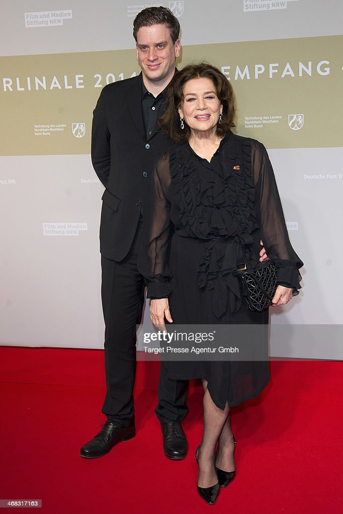 <a gi-track='captionPersonalityLinkClicked' href=/galleries/search?phrase=Hannelore+Elsner&family=editorial&specificpeople=628499 ng-click='$event.stopPropagation()'>Hannelore Elsner</a> and her son Dominik attend the NRW Reception at the Landesvertretung on February 9, 2014 in Berlin, Germany.