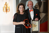 Hannelore Elsner and Leonhard R Mueller attends the Askania awards 2016 on February 9 2016 in Berlin Germany