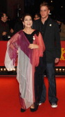 Hannelore Elsner attends the 'Cherry Blossoms Hanami' premiere with her son Dominik during day five of the 58th Berlinale International Film Festival...