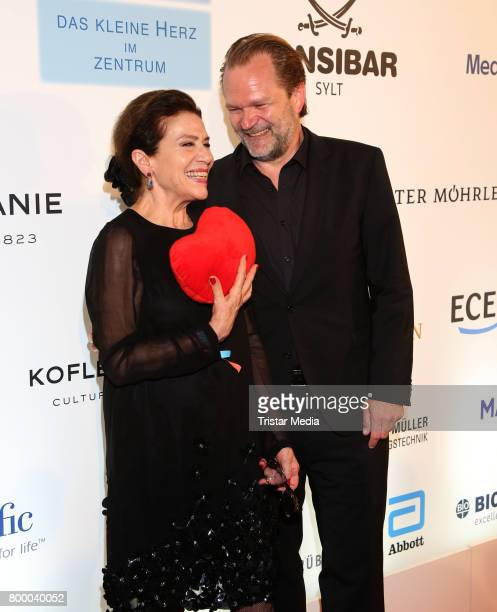 Hannelore Elstner and Sebastian Knauer attend the Charity Evening 'Das kleine Herz im Zentrum' at Curio Haus on June 22 2017 in Hamburg Germany
