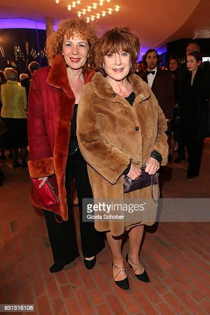Hannelore Hoger and her daughter Nina Hoger during the opening concert of the Elbphilharmonie concert hall on January 11 2017 in Hamburg Germany