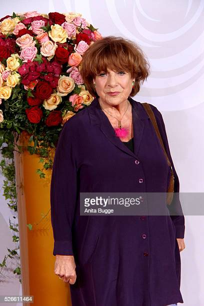 Hannelore Hoger attends the charity event 'Rosenball' at Hotel Intercontinental on April 30 2016 in Berlin Germany