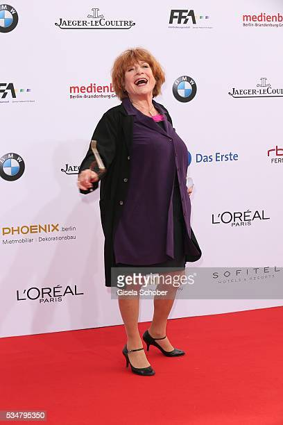Hannelore Hoger attends the Lola German Film Award 2016 on May 27 2016 in Berlin Germany