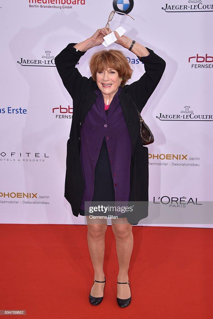 Hannelore Hoger attends the Lola - German Film Award (Deutscher Filmpreis) on May 27, 2016 in Berlin, Germany.