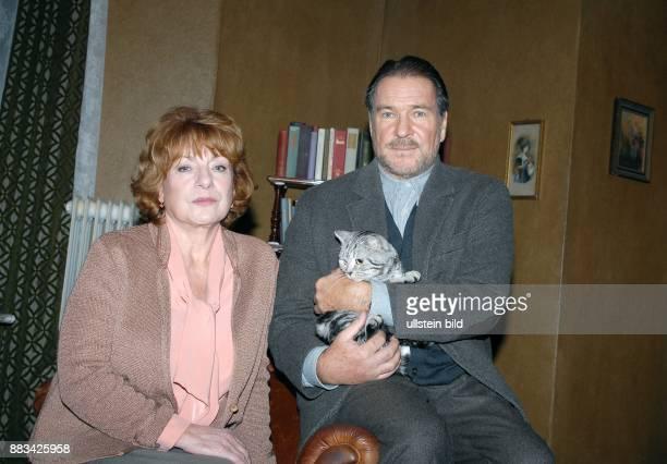 Hannelore Hoger und Götz George im NDRFilm 'Die Katze' vor der Kamera Drehbuch Daniel Nocke Regie Kaspar Heidelbach