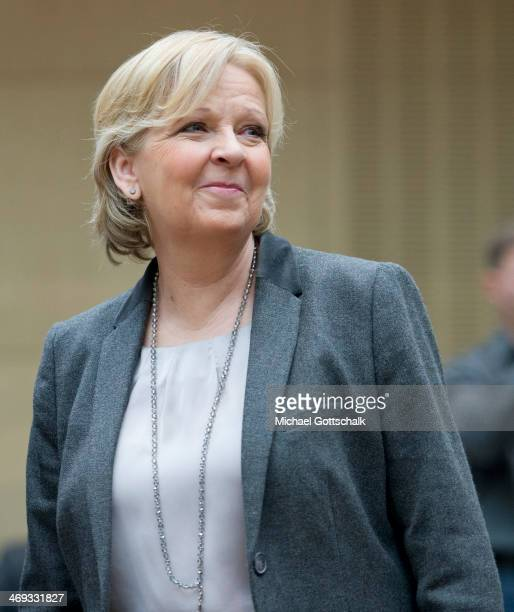 Hannelore Kraft Prime Minister of German State of NorthrhineWestfalia attends the session of german Bundesrat on February 14 2014 in Berlin Germany