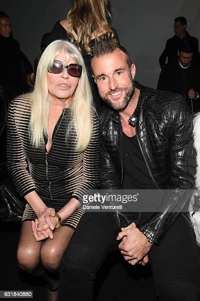 Hannelore Plein and Philipp Plein attend the Billionaire show during Milan Men's Fashion Week Fall/Winter 2017/18 on January 16 2017 in Milan Italy