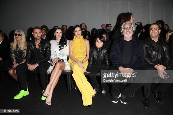 Hannelore Plein Philipp Plein Elisabetta Gregoraci Nathan Falco Briatore Flavio Briatore and guest attend the Billionaire show during Milan Men's...