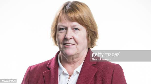 Hannelore Ratzeburg poses for a portrait during a DFB Executive Board Meeting at DFB Headquarter on March 10 2017 in Frankfurt am Main Germany