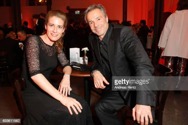 Hannes Jaenicke and geust attend the German Television Award at Rheinterrasse on February 2 2017 in Duesseldorf Germany