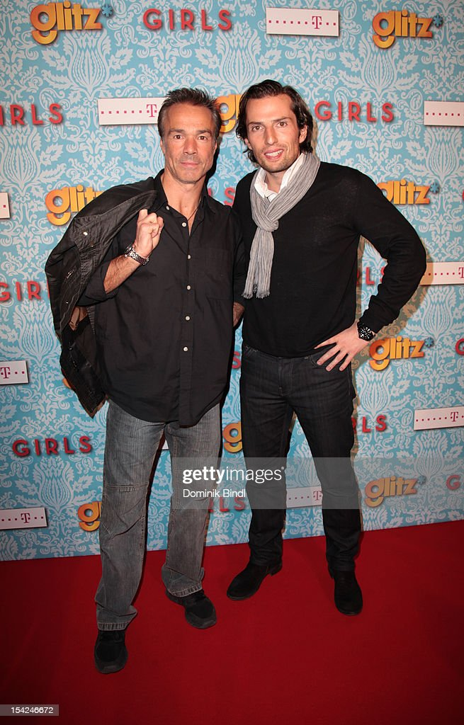 Hannes Jaenicke and Quirin Berg attend 'Girls' preview event of TV channel glitz* at Hotel Bayerischer Hof on October 16, 2012 in Munich, Germany. The series premieres on October 17, 2012 (every Wednesday at 9:10 pm on glitz*).