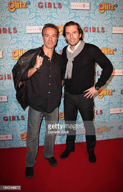 Hannes Jaenicke and Quirin Berg attend 'Girls' preview event of TV channel glitz* at Hotel Bayerischer Hof on October 16 2012 in Munich Germany The...