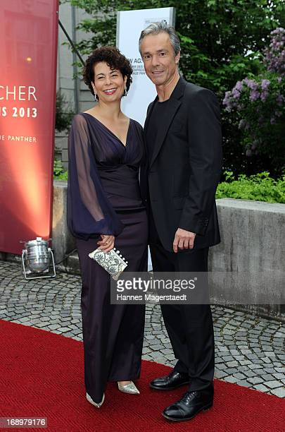 Hannes Jaenicke and Rola Bauer attend the 'Bayerischer Fernsehpreis 2013' at Prinzregententheater on May 17 2013 in Munich Germany