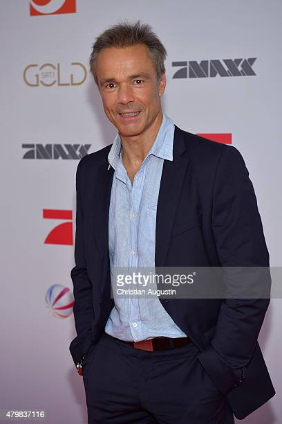 HAMBURG GERMANY JULY Hannes Jaenicke attends the program presentation of the television channel ProSiebenSat1 at Hamburg Cruise Centre Altona on July...