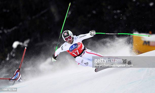 Hannes Reichelt of Austria competes during the Audi FIS Alpine Ski World Cup Men's Downhill on December 29 2012 in Bormio Italy