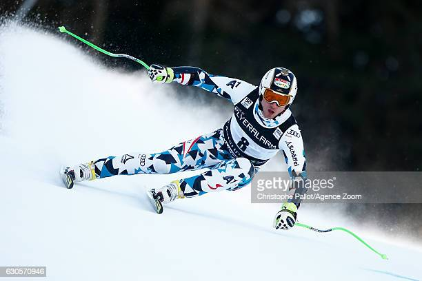 Hannes Reichelt of Austria competes during the Audi FIS Alpine Ski World Cup Men's Super Giant on December 27 2016 in Santa Caterina Italy
