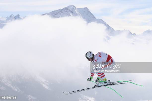 Hannes Reichelt of Austria competes in the Men's Downhill Training on February 9 2017 in St Moritz Switzerland
