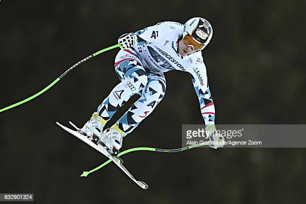 Hannes Reichelt of Austria in action during the Audi FIS Alpine Ski World Cup Men's Downhill on January 28 2017 in GarmischPartenkirchen Germany