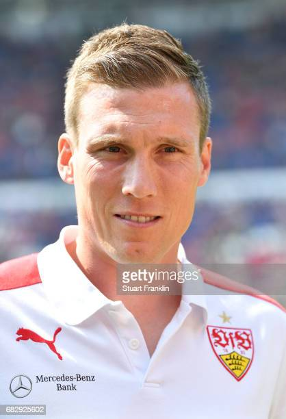 Hannes Wolf head coach of Stuttgart looks on during the Second Bundesliga match between Hannover 96 and VfB Stuttgart at HDIArena on May 14 2017 in...