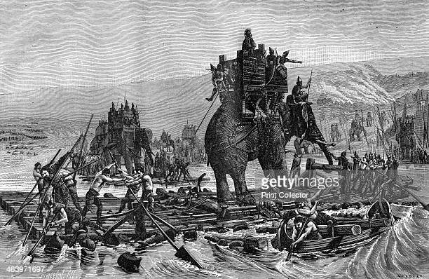 Hannibal crossing the Rhone 218 BC During the Second Punic War the Carthaginian general Hannibal led his army including elephants from Spain into...