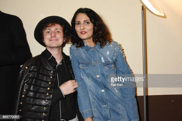 Hannibal Volkoff and Sylvie Ortega Munos attend the Henry Achkoyan Shop Opening on September 29 2017 in Paris France