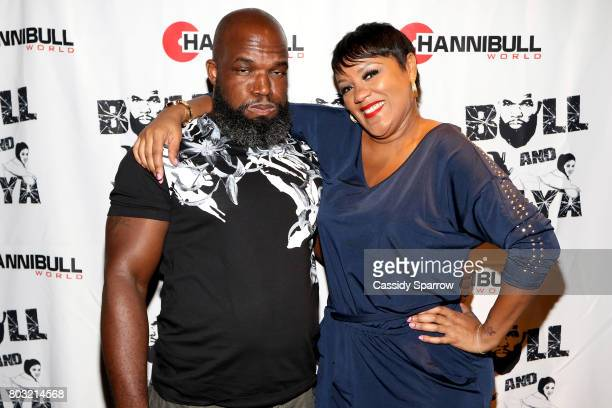 Hannibull and Yaya attend The Film Review Comedy Show at Helen Mills Theater on June 28 2017 in New York City