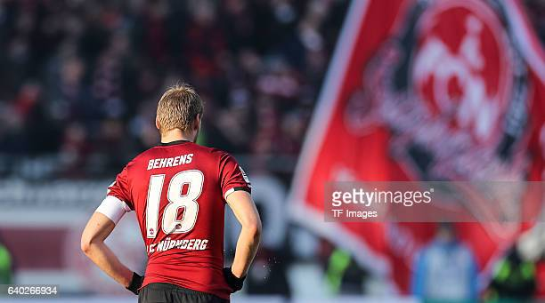 Hanno Behrens of FC Nuernberg disappointed during the Second Bundesliga match between 1 FC Nuernberg and SG Dynamo Dresden at Arena Nuernberg on...