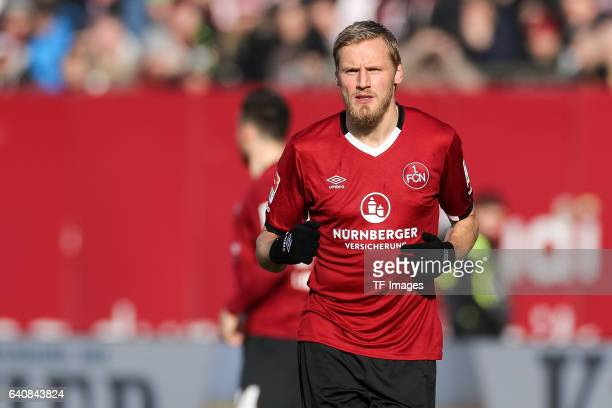 Hanno Behrens of FC Nuernberg looks on during the Second Bundesliga match between 1 FC Nuernberg and SG Dynamo Dresden at Arena Nuernberg on January...