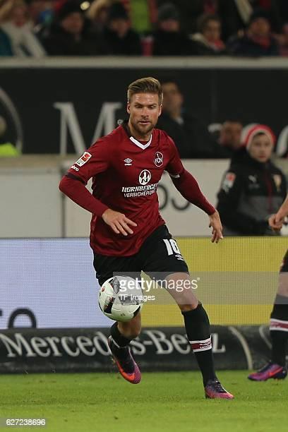 Hanno Behrens of Nuerenberg in action during the second Bundesliga match between VfB Stuttgart and 1 FC Nuernberg at Mercedes Benz Arena on November...