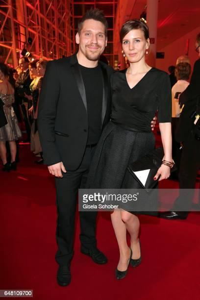 Hanno Koffler and Mia Meyer during the Goldene Kamera reception at Messe Hamburg on March 4 2017 in Hamburg Germany