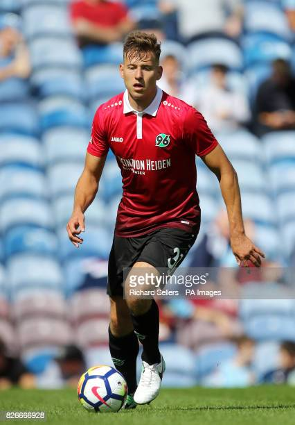 Hannover 96's Waldemar Anton during the preseason friendly match at Turf Moor Burnley PRESS ASSOCIATION Photo Picture date Saturday August 5 2017
