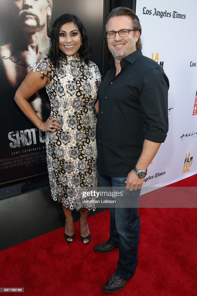 Hanny Patel and Ric Roman Waugh attend the AT&T And Saban Films Present The LAFF Gala Premiere Of Shot Caller at ArcLight Cinemas on June 17, 2017 in Culver City, California.