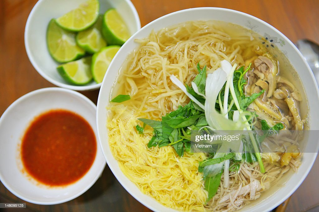 Hanoi Chicken Vermicelli (Bún Thang) : Stock Photo