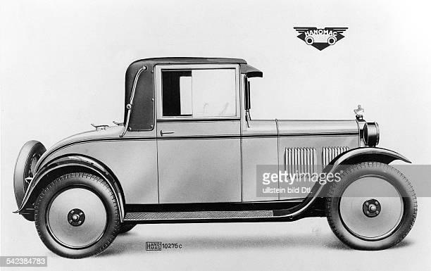 Hanomag Kleinwagen Cabriolet 3/16 PS Baujahr 19281930 VierZylinder Reihenmotor 800 ccm 16 PSbei 3300 U/min EinscheibenTrockenkupplung angeblocktes...