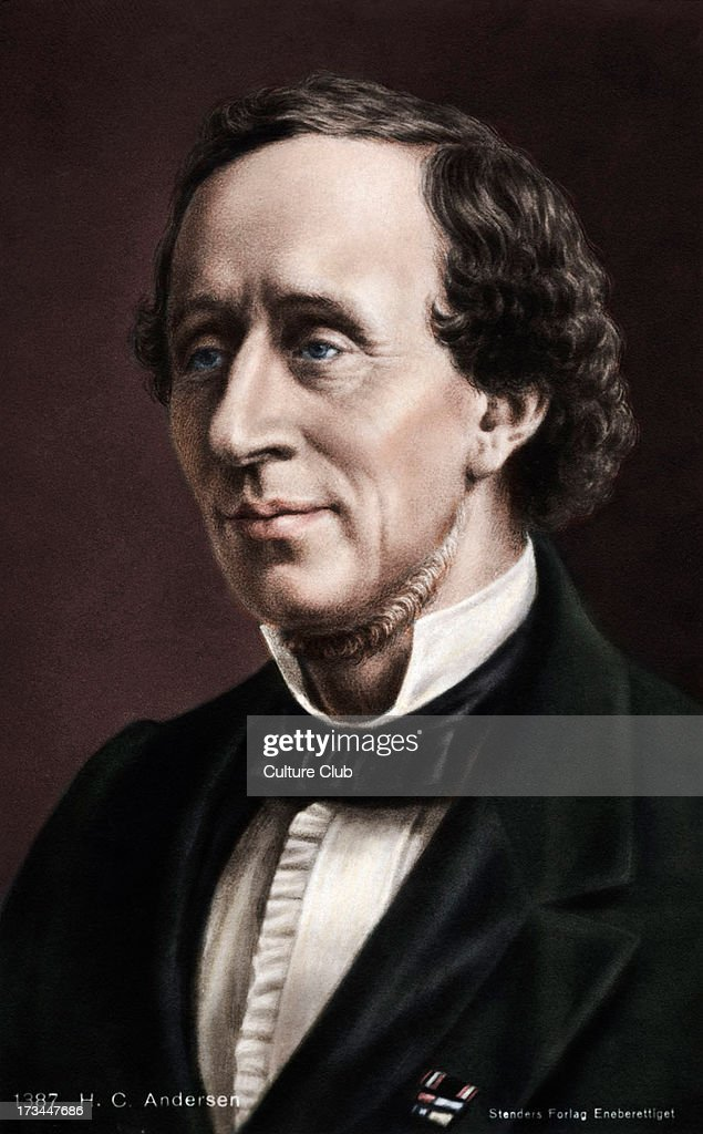 Hans Christian Andersen. Portrait of the Danish writer of fairy tales. 2 April 1805 - hans-christian-andersen-portrait-of-the-danish-writer-of-fairy-tales-picture-id173447686