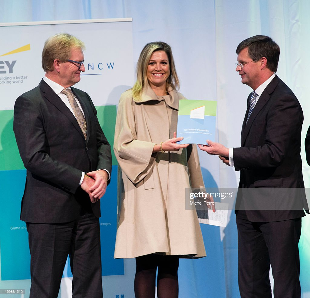 Queen Maxima Of The Netherlands Receives Dutch Sustainable Growth Report In Amsterdam