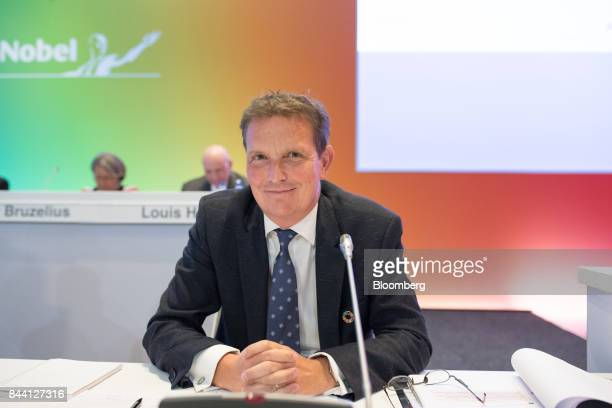 Hans De Vriese interim chief financial officer of Akzo Nobel NV looks on during a shareholder meeting in Amsterdam Netherlands on Friday Sept 8 2017...