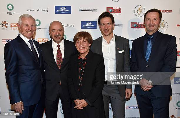 Hans Dieter Cleven Christian Neureuther Rosi Mittermaier Felix Neureuther and Thomas Bodmer during the Felix Friends Charity Gala at Hotel Vier...