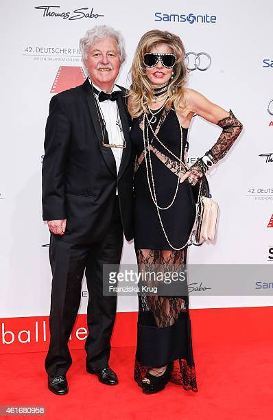 Hans Georg Muth and Gisela Muth attend the German Film Ball 2015 on January 17 2015 in Munich Germany