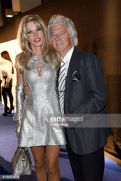 Hans Georg Muth and wife Gisela Muth attend the Opening Party of the Men's Beauty Clinic on October 15 2016 in Duesseldorf Germany