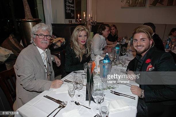 Hans Georg Muth Gisela Muth and Justus Toussis attend Justus Toussis Birthday Party at Mio3 on March 19 2016 in Wuppertal Germany