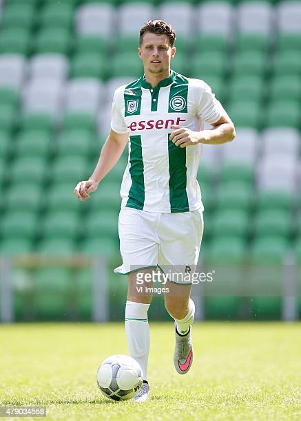 Hans Hateboer during the team presentation of FC Groningen on June 29 2015 at the Euroborg in Groningen The Netherlands