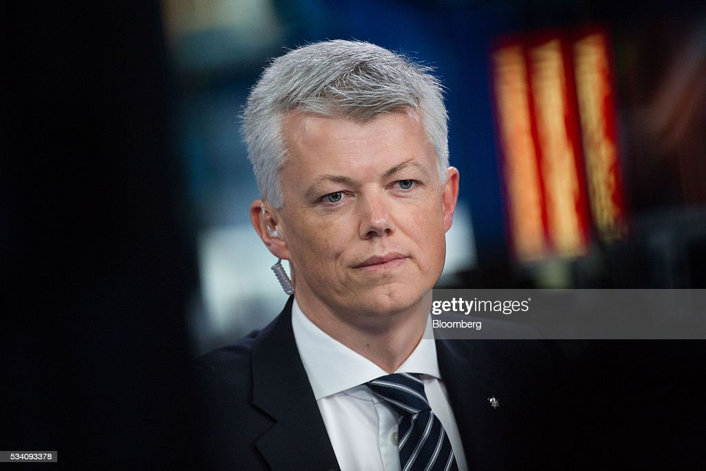 Hans Jakob Hegge, chief financial officer of Statoil ASA, pauses during a Bloomberg Television interview in London, U.K., on Wednesday, May 25, 2016. Norway's government, which has called for greater competition in the country's oil industry, wants Statoil ASA and Lundin Petroleum AB to remain rivals after the two companies deepened ties this month. Photographer: Simon Dawson/Bloomberg via Getty Images