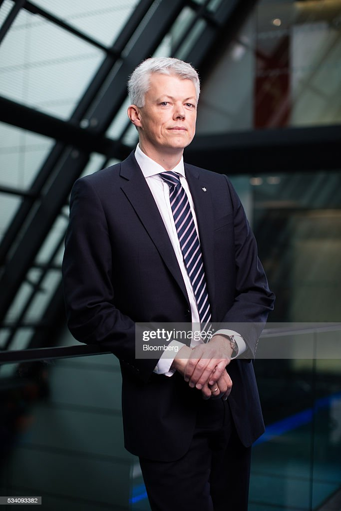 Hans Jakob Hegge, chief financial officer of Statoil ASA, poses for a photographer following a Bloomberg Television interview in London, U.K., on Wednesday, May 25, 2016. Norway's government, which has called for greater competition in the country's oil industry, wants Statoil ASA and Lundin Petroleum AB to remain rivals after the two companies deepened ties this month. Photographer: Simon Dawson/Bloomberg via Getty Images