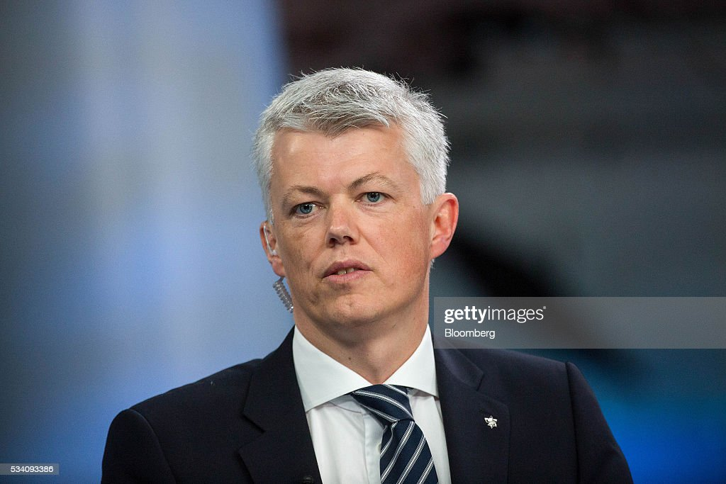 Hans Jakob Hegge chief financial officer of Statoil ASA speaks during a Bloomberg Television interview in London UK on Wednesday May 25 2016 Norway's...