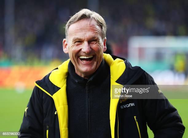 Hans Joachim Watzke CEO of Borussia Dortmund before the DFB Cup quarter final between Sportfreunde Lotte and Borussia Dortmund at Sportpark am Lotter...