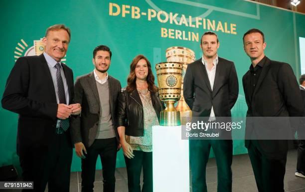 Hans Joachim Watzke CEO of Borussia Dortmund Nuri Sahin player of Borussia Dortmund Katarina Witt Alexander Meier of Eintracht Frankfurt and board...
