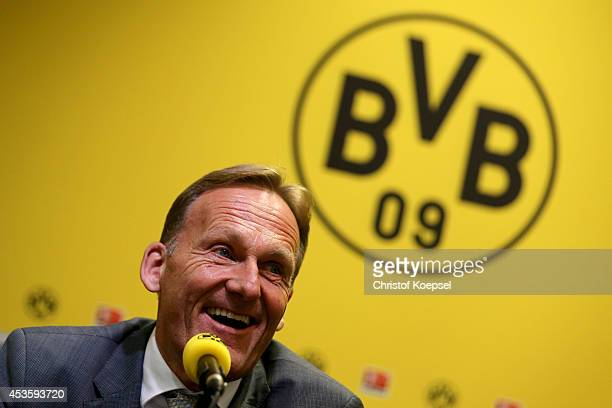 Hans Joachim Watzke chairman of the board speaks during the annual balance press conference of Borussia Dortmund at thepress room of Signal Iduna...